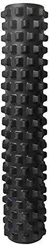 RumbleRoller - Full Size 31 Inches - Black - Extra Firm - Textured Muscle Foam Roller - Relieve Sore Muscles- Your Own Portable Massage Therapist - Patented Foam Roller Technology