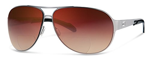 AV2 Bifocal Reading Sunglasses | Sun Readers Designed for Aviators and Casual Use With Wrap-Around Fit | Made from Highest Quality Materials (Bronze gradient lenses, - Sunglasses Aviator Around Wrap
