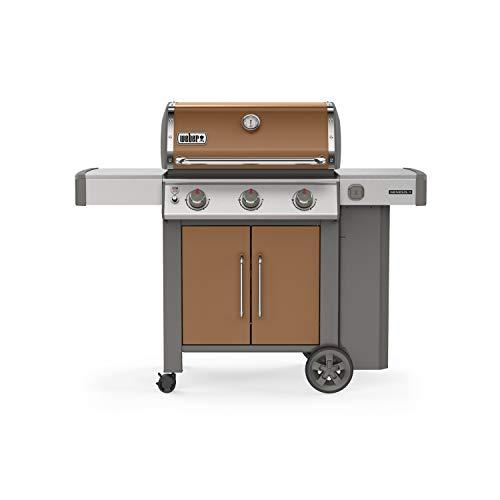 (Weber 61025001 Genesis II E-315 3-Burner Liquid Propane Grill, Copper)