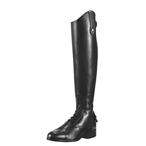 ARIAT Women's Challenge Contour Field Zip Tall Riding Boot Black Calf Size 6.5 B/Medium Us