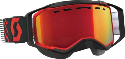 Scott Prospect Adult Snowmobile Goggles - Red/Black/Chrome/One Size by SCOTT