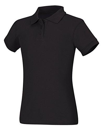 CLASSROOM Girls Interlock Cap Sleeve Polo