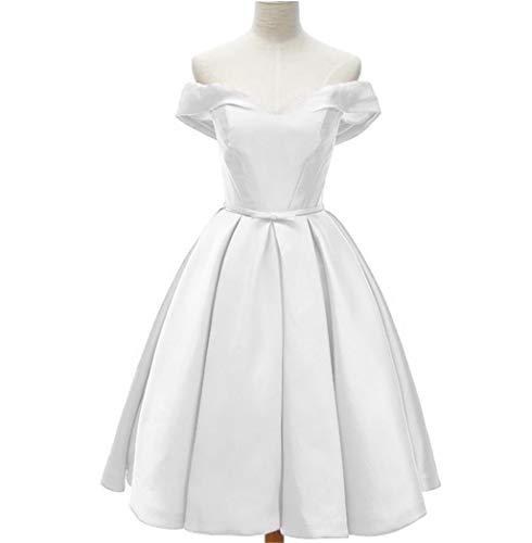 Dydsz Prom Homecoming Dresses Short for Juniors Women 2019 Plus Size Cocktail Gown D218 White 2 ()