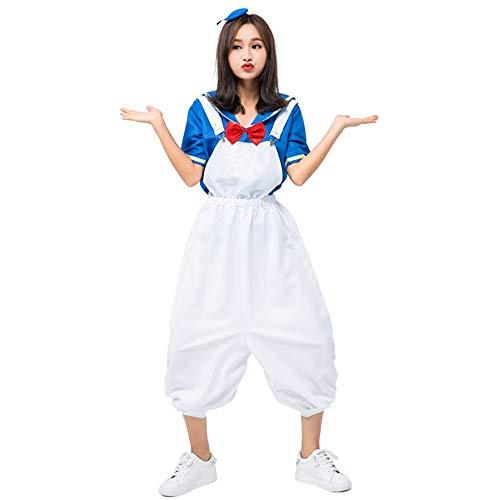 YOMORIO Womens Halloween Sailor Costumes Cute Duck Outfit Anime Schoolgirl Fancy Dress -