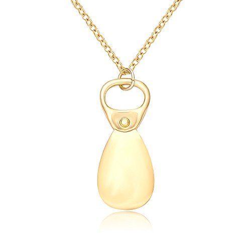 - SENFAI Fashion Light and Delicate Pull-tab Pendant Necklace Creative Gift for Women