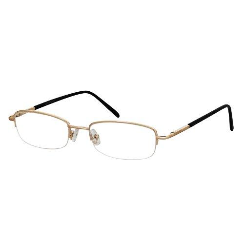 EyeBuyExpress Shield Gold Reading Glasses Magnification Strength 7.5