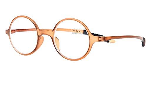 vieilles lumière rond de lecture lecture lunettes femme léger femmes hommes KOMNY lunettes lecture ray mode Lunettes de bleues B Lunettes ultra cadre anti et élégantes de rétro HD Blu Degrees B250 de confortables annRqT