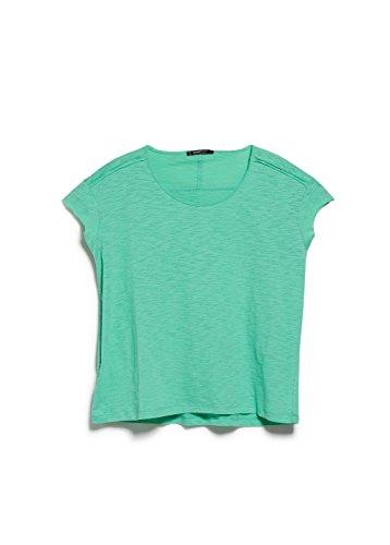 Mango Women's Slub Cotton T-Shirt, Mint Green, S
