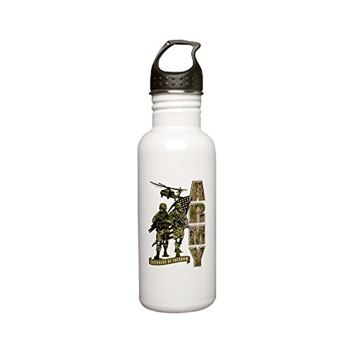 Stainless Water Bottle 0.6L US Army Defenders Freedom Soldiers by Royal Lion