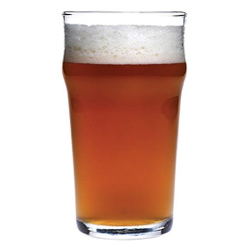 Anchor Hocking Rim Tempered English Pub Style Glass, 20 Ounce - 12 per - Case Pint