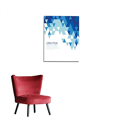 (longbuyer Wallpaper Abstract Blue Triangle Modern Template for Media Presentation Mural 20