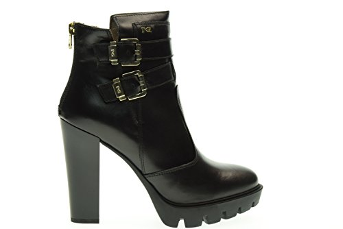 BLACK GARDENS woman ankle boots with high heels A616503D / 100 Nero 6sYO0Mnk