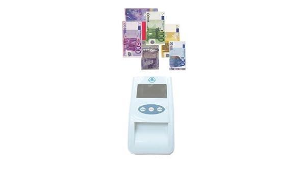 Detector billetes falsos portátil - detección rápida y fiable - automático y actualizable a nuevos billetes expedidos por el BCE - alta tecnología - para ...