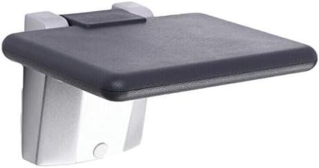 収納ベンチ 壁掛けエントランスホールポーチ靴スツール隠された目に見えない壁スツールトイレチェア折りたたみ靴ベンチ 柔軟 多用途 (Color : Black, Size : 26.5x20x37.5cm)