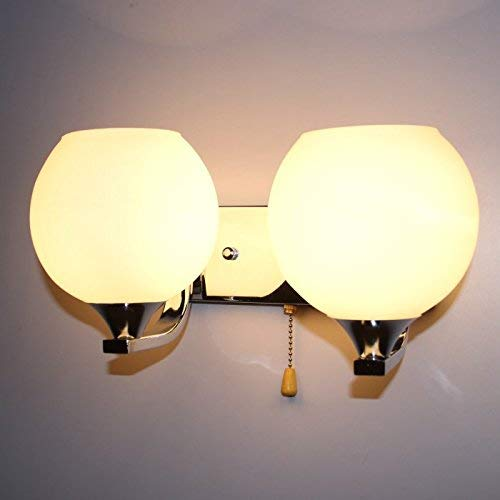 Eeayyygch Minimalistische Wandleuchte E26   27 Basis Schlafzimmer Wohnzimmer LED Nachtwandleuchten, Single (Farbe   Double)