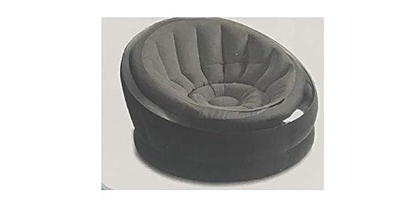 Amazon.com: Intex 68582WB - Silla hinchable, color gris ...
