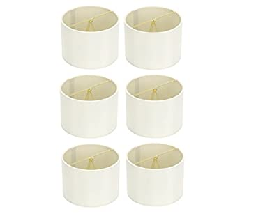 Upgradelights 5 Inch Retro Barrel Drum Clip on Chandelier Lampshades (Set of 6)