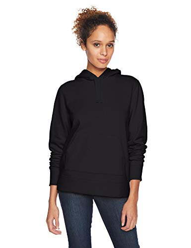 (Amazon Essentials Women's French Terry Fleece Pullover Hoodie Sweater, -black, XX-Large)