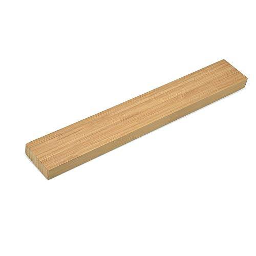 JISETY Magnetic Knife Holder 40cm Wall Mount Bamboo Wood Strip for Metal Rack Utensil Easy Storage Kitchen Tool