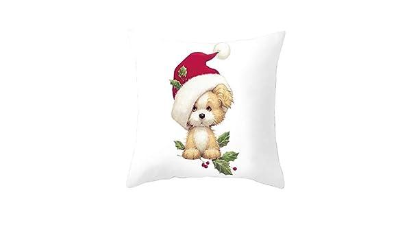 Coverhome - Funda de almohada decorativa de Navidad, 45 x 45 ...