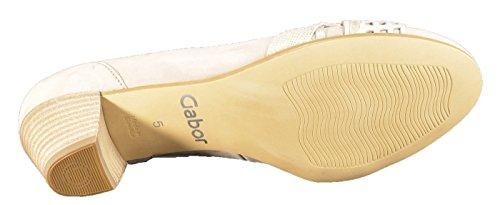 Donna scarpa décolleté leinen/puder/visone beige, (leinen/puder/visone) 46.154.43