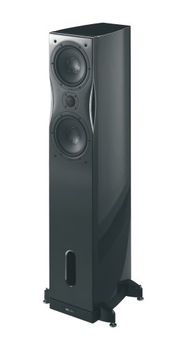MB Quart Alexxa S-One 3-Way 180W Floorstanding Speaker, Piano Black Discontinued by Manufacturer