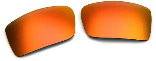 (Oakley Gascan 13-665 Iridium Rimless Sunglasses,Multi Frame/Ruby Lens,One Size)