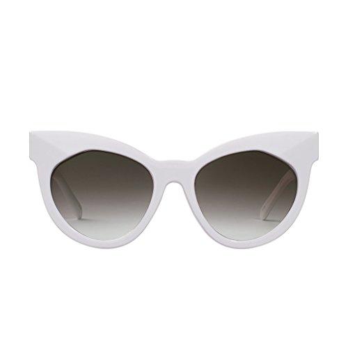 PERVERSE sunglasses Cosmopolitan Cat-eye Round Sunglasses (Glossy White, - Cosmopolitan Cat