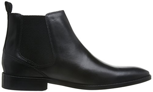 Base London Herren Cheshire Chelsea-Stiefel, Schwarz Black