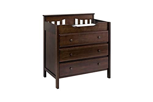 Jayden 3 Drawer Changer Dresser in Espresso (Davinci Kalani 3 Drawer Changer Dresser White)