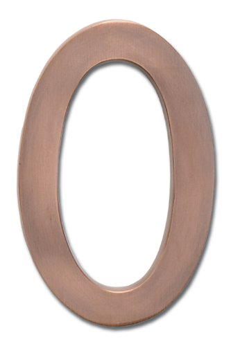 Architectural Mailboxes 3582AC-4 Brass 4-Inch Floating House Number, Antique Copper 4 Antique Copper 4