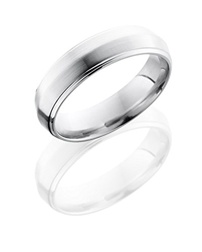 Details about  /Cobalt Beveled Edge Satin and Polished 6mm Band S:12.5