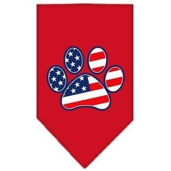 Red Bandana Pet Stores (Pet Patriotic Paw Screen Print Dog Bandana (Large/Red). Handkerchief, Kerchief, Neckerchief Supply)