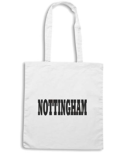 T-Shirtshock Borsa Shopper Bianca WC0727 NOTTINGHAM