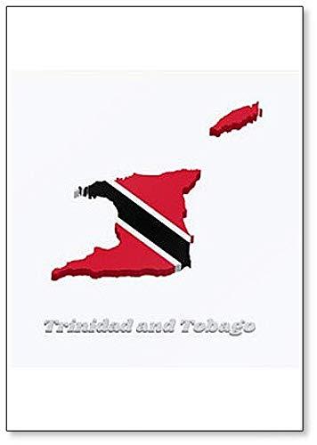 Map and Flag of Trinidad and Tobago Illustration Fridge Magnet