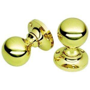victorian style brass door knobs ball shape sprung amazon co uk