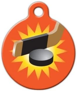 Dog Tag Art Light the Lamp Hockey Pet ID Tag for Dogs and Cats