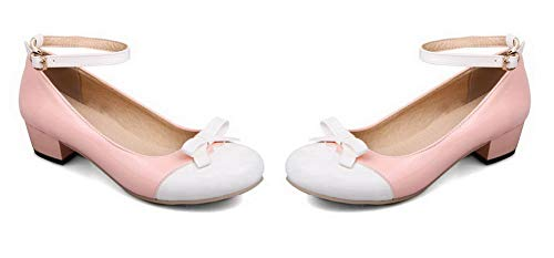 Maiale Pelle Fibbia di Assortito Colore AgooLar Donna GMMDB006406 Rosa Flats Ballet 5q6RYwYtx