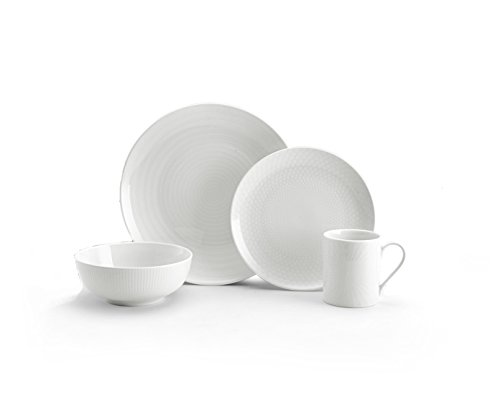 Mikasa Cheers White 40-Piece Cheers Dinnerware Set, Service for 8 (Collection Mikasa Cheers)