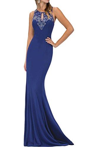 ivyd ressing Donna Perline Tonde di alta qualità custodia con linea a colletto Party Festa Prom abito abito sera vestito blu royal 44