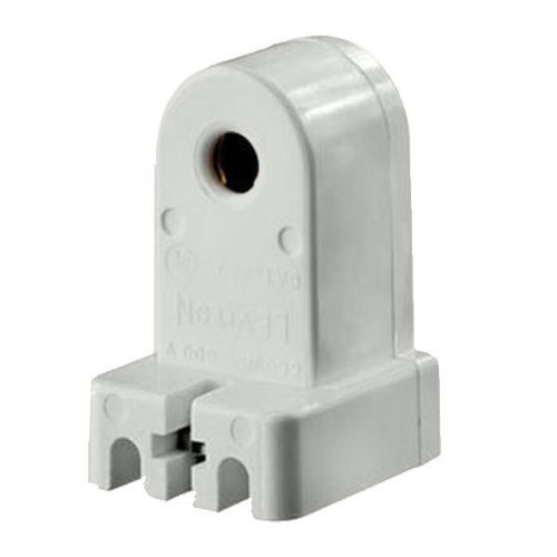 Leviton L467 - T8 or T12 Slimline - Stationary Lampholder - Pedestal Style - Single Pin Socket (Single Pin Socket)