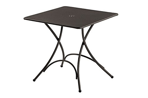 Pigalle Table mesa plegable cuadrada cm. 76 x 76 Art. 907 Hierro ...