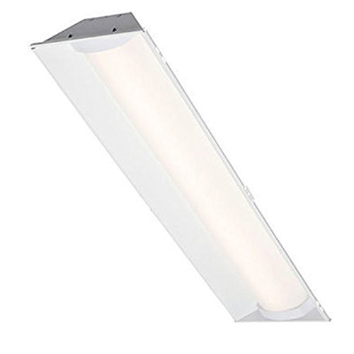 LED - 1 x 4 ft. - Lay-In Troffer - 44 Watt - 4000 Kelvin - 4000 Lumens - Angled Reflector - 120-277V - 2 Lamp Equal - Dimmable - Cree ZR14-40L-40K-10V