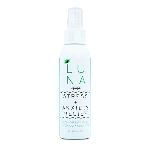Luna Bergamot & Patchouli Aromatherapy Spray - Stress Anxiety Relief - Room & Pillow Mist…