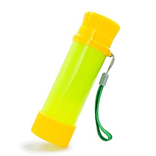 Luwint Portable Pocket Pirate Monocular Telescope - Retractable Educational Science Toys Spyglass for Kids Boys Girls Aged 3-6 Years Old (Green/Yellow)