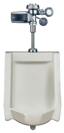Sloan WEUS-1000.1302 High Efficiency Urinal features a hardwired, sensor-operate, White
