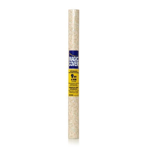 Magic Cover Self-Adhesive Shelf Liner, 18-Inch by 9-Feet, Granite Sand by Magic Cover