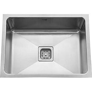 SILVER LINE Stainless Steel Grade 304 Kitchen Sink (24″x18″x10″Low Radius)