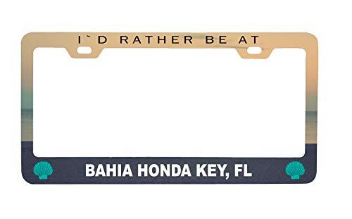 R and R Imports Bahia Honda Key Florida Sea Shell Design Souvenir Metal License Plate Frame