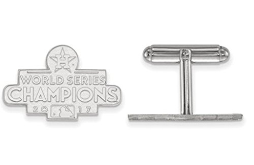 Rhodium-Plated Sterling Silver 2017 World Series Champions Houston Astros Cuff Links